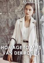 Promos et remises  : Lookbook homage to Mies van der Rohe's