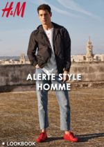 Catalogues et collections H&M : Lookbook homme Alerte style