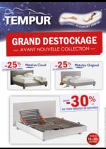 Promos et remises  : Destockage TEMPUR jusqu'à -30%