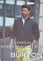 Catalogues et collections Burton : Lookbook homme printemps 2017