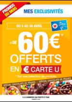 Prospectus Super U : + de 60€ offerts en € carte U