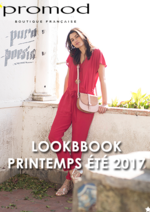 Catalogues et collections Promod : Lookbbook printemps été 2017