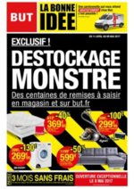 Promos et remises BUT : Déstockage monstre