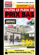 Prospectus Brico Dépôt : Faites le plein de prix bas