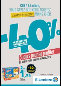 Prospectus E.Leclerc PANTIN : -40% de réduction immédiate