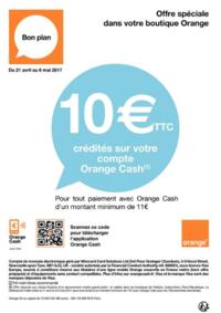 Prospectus Boutique Orange PUTEAUX : 10€ crédités sur votre compte Orange Cash