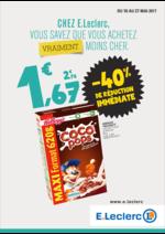 Prospectus E.Leclerc : Chez E.Leclerc vous savez que vous achetez moins cher !