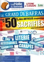 Prospectus La Halle au Canapé : Le grand débarras
