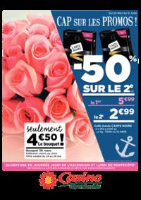 Prospectus Supermarchés Casino PARIS 26 bis et 28 Place de la Nation : Cap sur les promos : -50% sur le 2ème