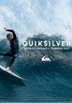 Promos et remises  : Catalogue Wetsuit printemps été 2017