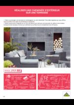 Guides et conseils Leroy Merlin : Réaliser une cheminée d'extérieur sur une terrasse