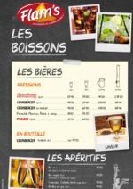 Menus  : La carte des boissons