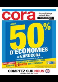 Prospectus Cora ARCUEIL : Jusqu'à 50% d'économies en €urocora