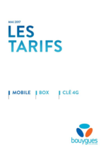 Tarifs Bouygues Telecom : Les tarifs Mobile, Box, Clé 4G