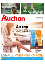 Prospectus Auchan : Au top tout l'été