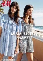 Catalogues et collections H&M : Lookbook femme Miami blues
