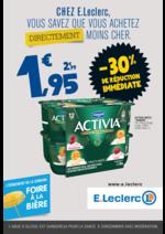 Prospectus E.Leclerc : Chez E.Leclerc, vous savez que achetez directement moins cher