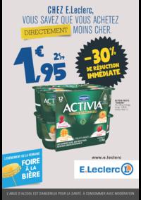 Prospectus E.Leclerc MONTGERON : Chez E.Leclerc, vous savez que achetez directement moins cher