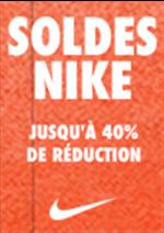 Promos et remises  : Soldes NIKE, jusqu'à -40% de réduc