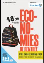 Prospectus E.Leclerc : Économies de rentrée
