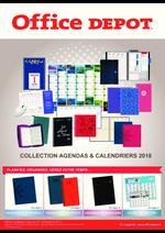 Prospectus Office DEPOT : Collection agendas & calendriers 2018