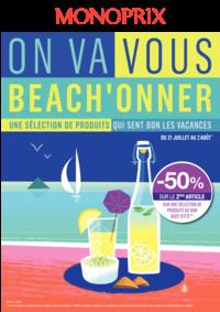 Prospectus Monoprix SANNOIS : On va vous beach'onner