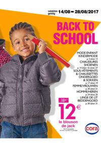Prospectus Cora ANDERLECHT : Back to school