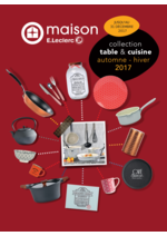 Promos et remises  : Collection table et cuisine automne hiver 2017