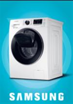 Promos et remises  : Lave-linge Samsung WW70K5410UW 479,99€ au lieu de 549,99€