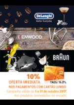 Promoções e descontos Jumbo : Delonghi - 10% Oferta Imediata Cartão Jumbo