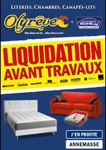 Promos et remises  : LIQUIDATION Literies & Canapés-lits de Qualité !