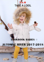 Promos et remises  : Lookbook babies automne hiver 2017-2018