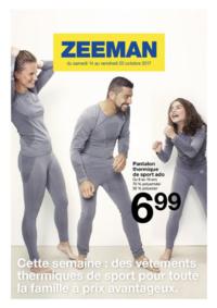 Prospectus Zeeman Mutzig : Cette semaine : des vêtements thermiques de sport pour la famille