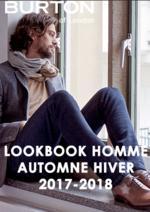 Catalogues et collections Burton : Lookbook homme automne hiver 2017-2018