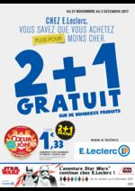 Prospectus E.Leclerc : 2+1 gratuit sur de nombreux produits