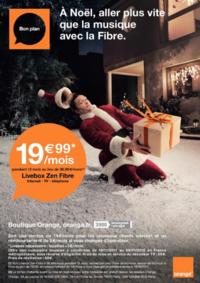 Prospectus Boutique Orange PARIS 4 : A Noël, aller plus vite que la musique avec la Fibre