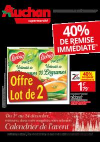Prospectus Auchan Supermarché Paris 12 Daumesnil : 40% de remise immédiate