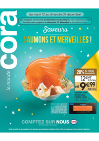 Bons Plans Cora ARCUEIL : Saveurs saumons et merveilles!