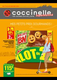 Prospectus Coccinelle Supermarché PARIS 108/110 RUE DES PYRENEES : Des petits prix gourmands