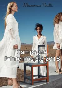 Catalogues et collections Massimo Dutti Women Men Bruxelles - Rue neuve  : Campagne femme printemps été 2018
