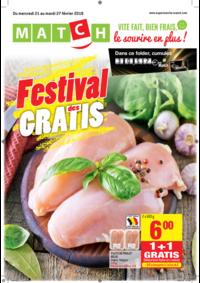 Prospectus Match SCHEUT : Festival des gratis