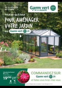 Prospectus Gamm vert BOURBONNE LES BAINS : Pour aménager votre jardin