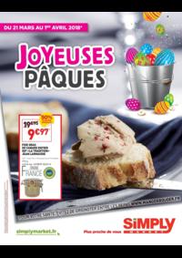 Prospectus Simply Market LIMEIL BREVANNES : Joyeuses Pâques