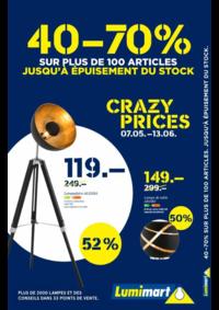 Prospectus Lumimart Ittigen : 40 à 70%sur plus de 100 articles