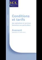 Prospectus LCL : Conditions et tarifs