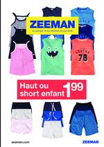 Prospectus Zeeman : Haut ou short enfant à 1.99€