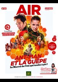 Journaux et magazines McDonald's - PARIS LA DEFENSE 2 : Air le Mag du mois de juillet 2018