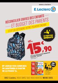 Prospectus E.Leclerc MONTGERON : Réconcilier envies des enfants et budget des parents