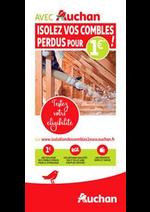 Prospectus Auchan : Avec Auchan, isolez vos combles !