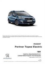 Prospectus Peugeot : Peugeot Partner Tepee  Electric